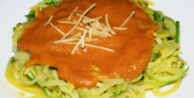Creamy Pumpkin Sauce with Zoodles