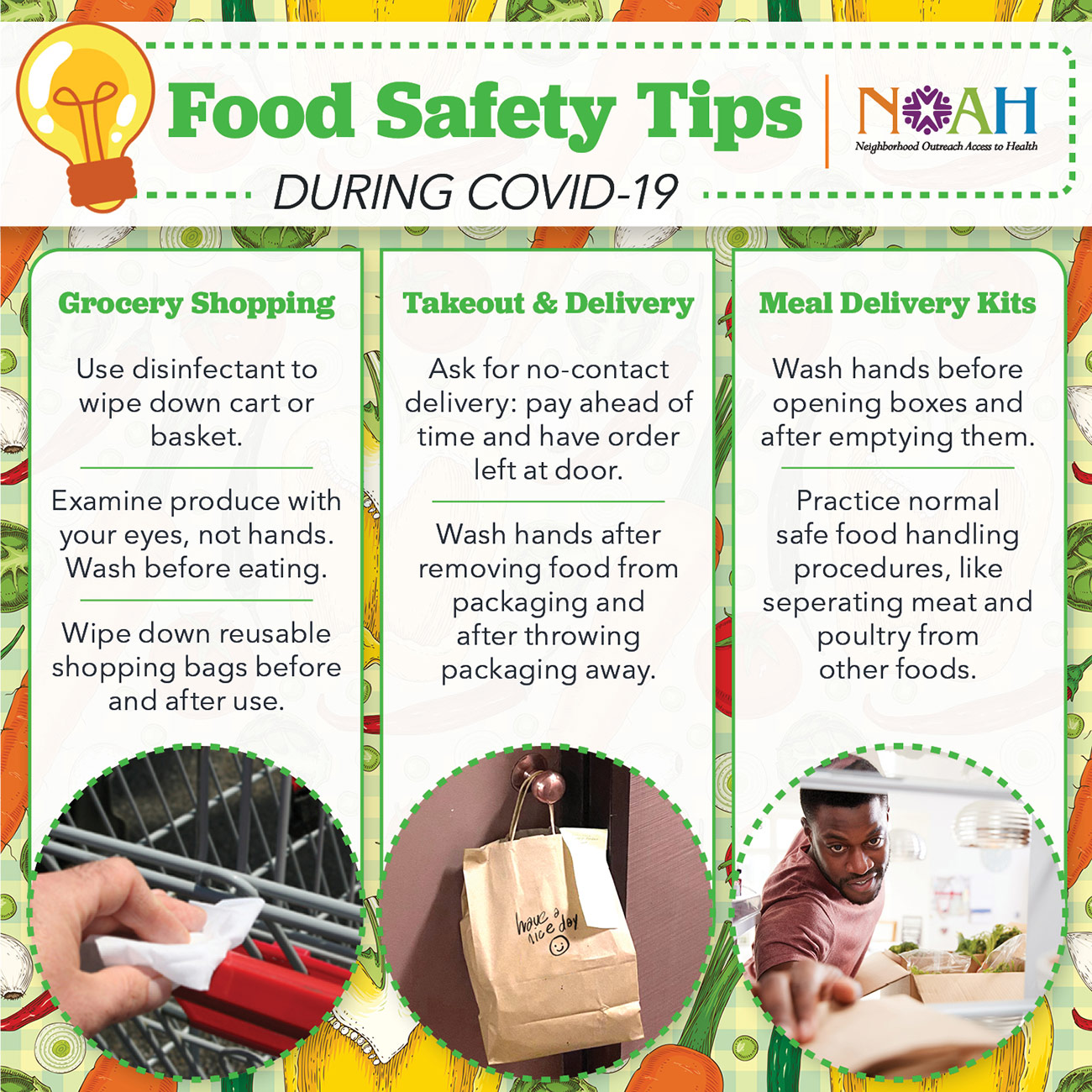 Food Delivery and Grocery Shopping Care Tips