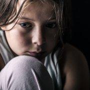 Sad abused child