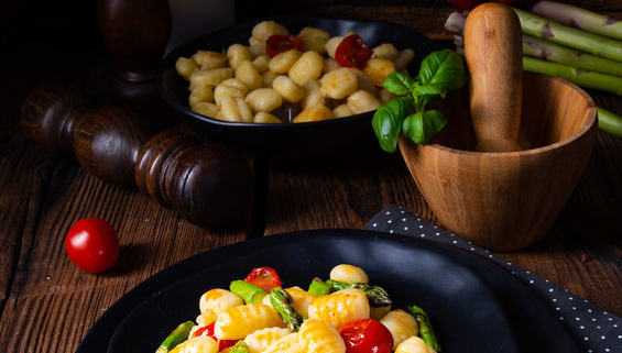 Gnocchi with roasted veggies