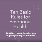 Ten Basic Rules for Emotional Health