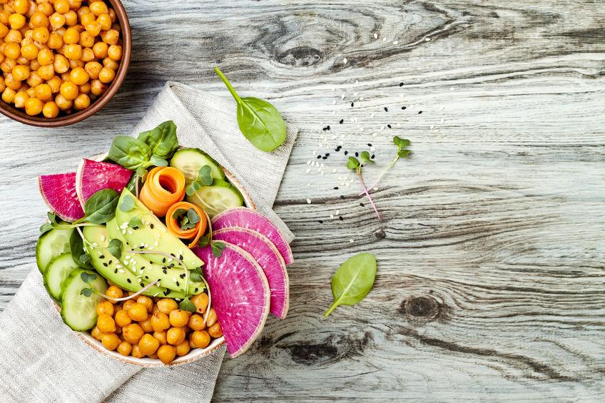Dill chickpea and radish salad