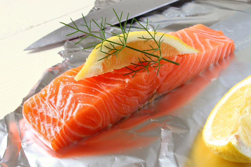 Lemon Dill Salmon in Foil