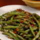 garlic green beans with tempeh