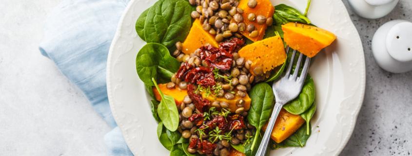 Pumpkin and Lentil Salad